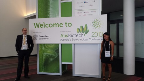 John Dangerfield and Annie Cunanan at AusBiotech Brisbane 2013