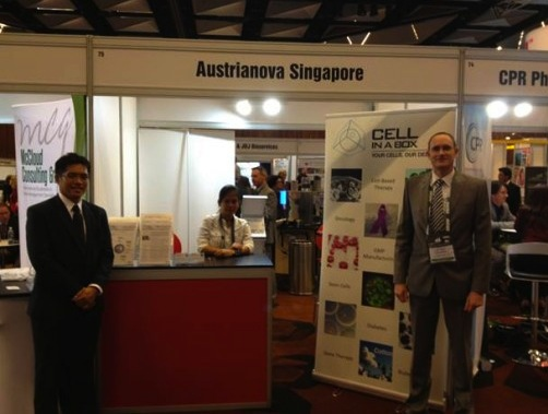 John Dangerfield and Wee Jin Tan at AusBiotech Melbourne 2012