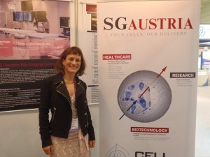 BioKorea Sept 2011: Chief Scientist, Dr Lilli Brandtner at the SG Austria stand