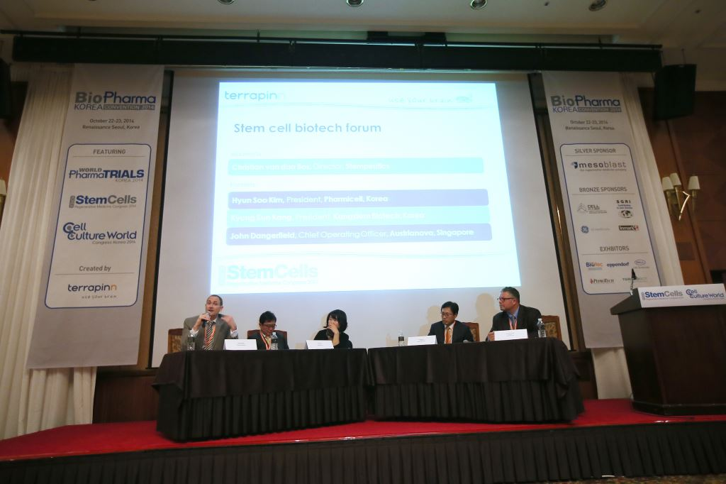 Austrianova COO, John Dangerfield, was part of the opening panel discussion at BioPharma Korea 2014