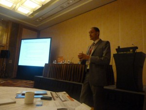 Cell and GT Forum, Sept 2011. COO, Dr John Dangerfield during chairing of the focus session